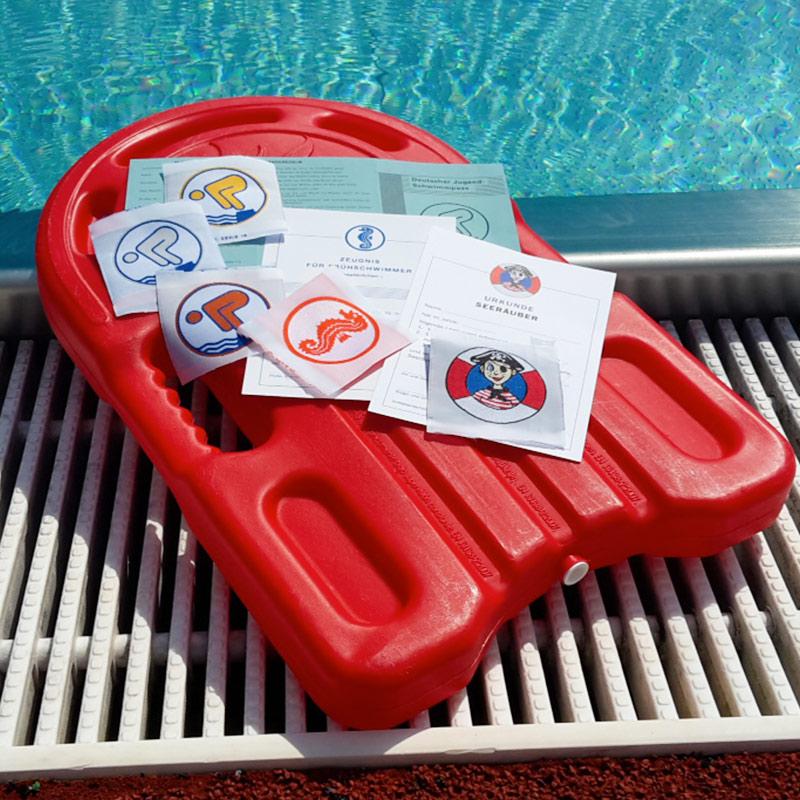 Abnahme von Schwimmabzeichen